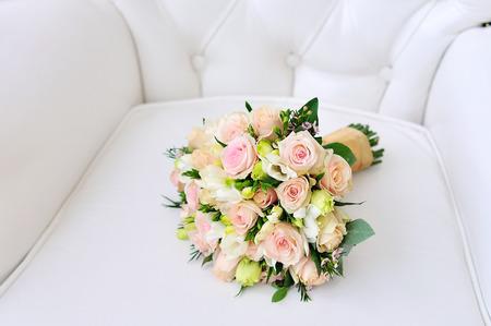 wedding bouquet, flowers, roses elegant beautiful bouquet Stock Photo
