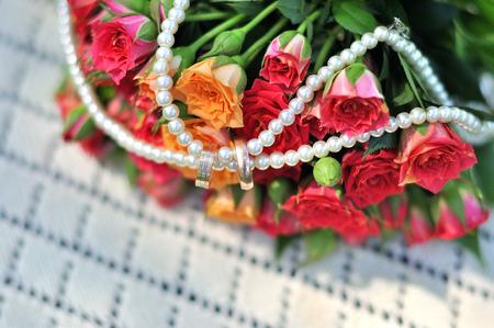 wedding bouquet, flowers, roses elegant beautiful bouquet Imagens