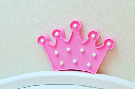 Pink crown for new born baby girl
