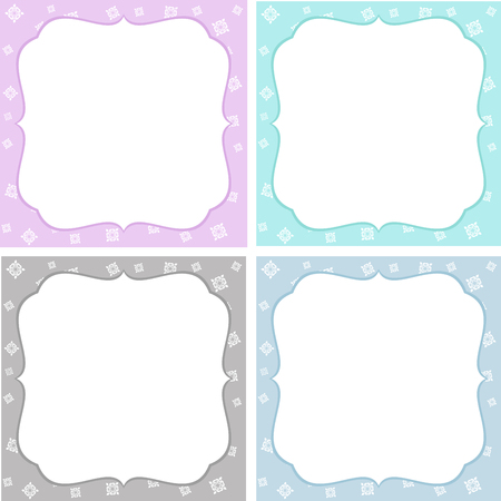 Set of floral greeting cards. Vector backrounds Illustration