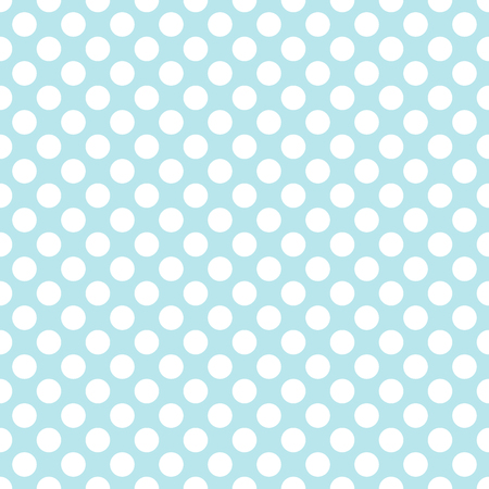 Blue polka dot background seamless pattern vector.