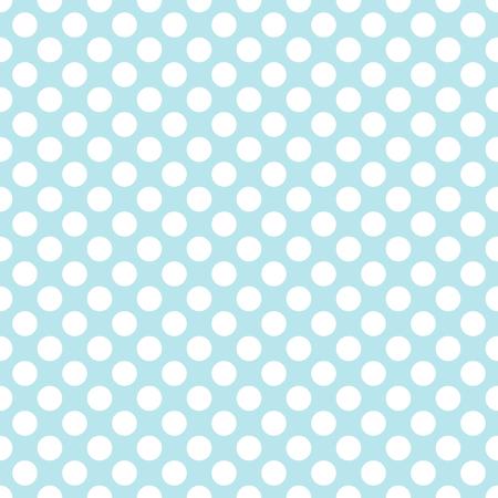 Blue polka dot background seamless pattern vector.