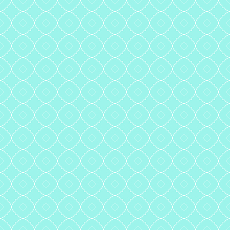 Abstract geometric seamless pattern in mint and white.