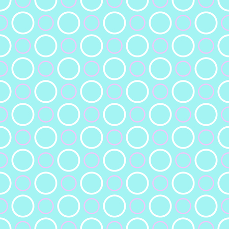 Blue and white polka dot pattern, seamless texture background Illustration