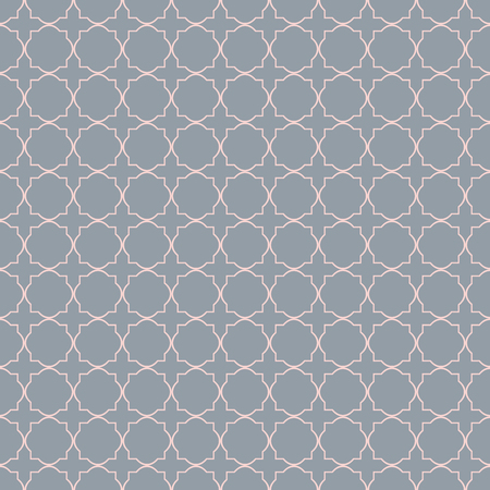 A Seamless vintage pattern with quatrefoils. Seamless vector background. Ilustração