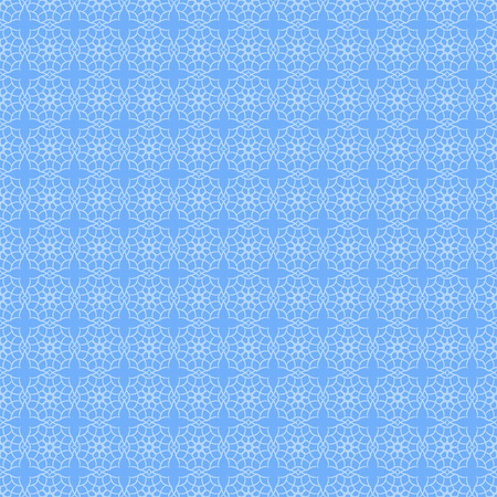 Abstract geometric seamless pattern in blue tones Illustration