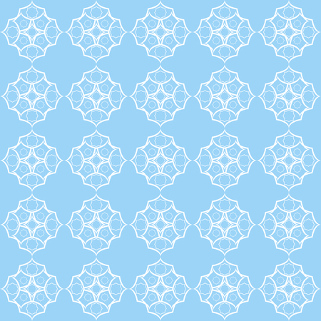 A Seamless vintage pattern with quatrefoils. Seamless vector background. Illustration