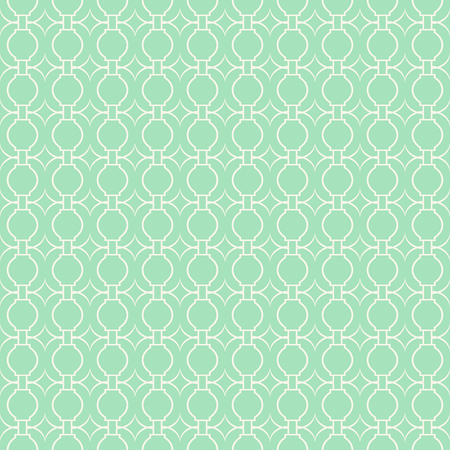 Lace seamless pattern with ornament on green background.