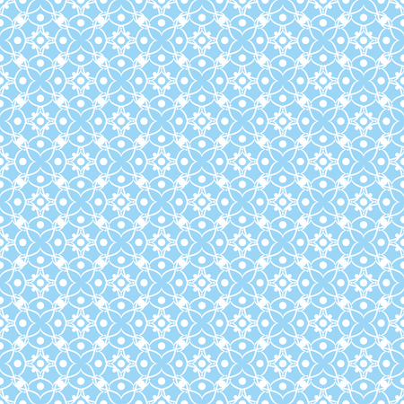 Abstract geometric seamless pattern in blue tones illustration.