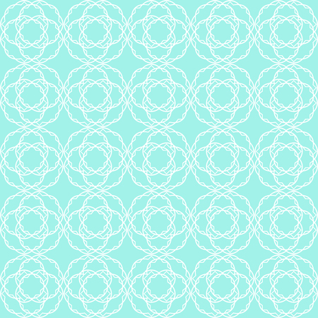 Vintage seamless pattern in cute mint tones Vector illustration.