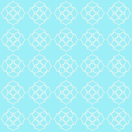 Vintage seamless pattern in pale blue tones Illustration