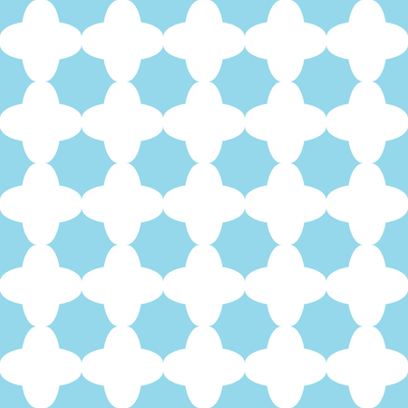 Traditional quatrefoil lattice pattern. Seamless vector background. Illustration