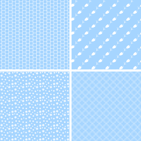 Chic different seamless patterns. Texture can be used for paper or scrap booking. Иллюстрация