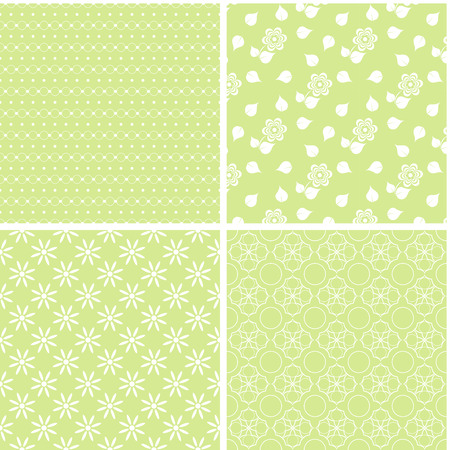 Chic different seamless patterns. Texture can be used for paper or scrap booking. 向量圖像