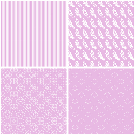 Chic different vector seamless patterns for printing fabric and paper or scrap booking.