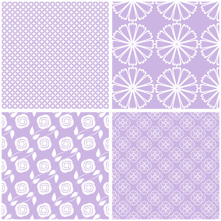 Seamless backgrounds Collection in lilac pale tones