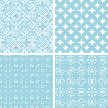 Seamless backgrounds Collection in blue pale tones