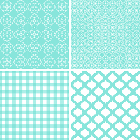 Seamless backgrounds Collection in mint pale tones