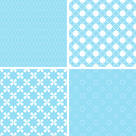 Charming different vector seamless patterns. Vector set.