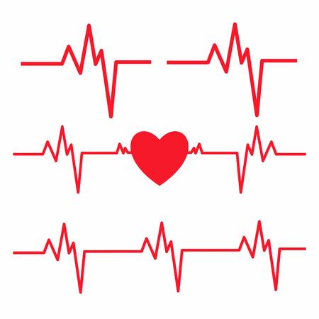 Heartbeat line isolated on white background. Heart Cardiogram icon. Vector illustration. Illusztráció