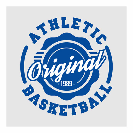 Basketball, Athletic for t-shirt print. Athletic sport typography. Vector