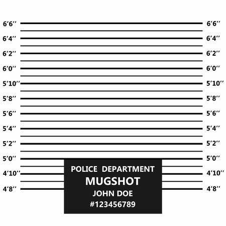Línea de ficha policial criminal. Alineación policial o ficha policial. Vector Ilustración de vector