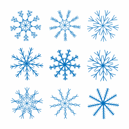 Snowflakes. Christmas and New Year decoration. Winter theme. Vector Ilustração