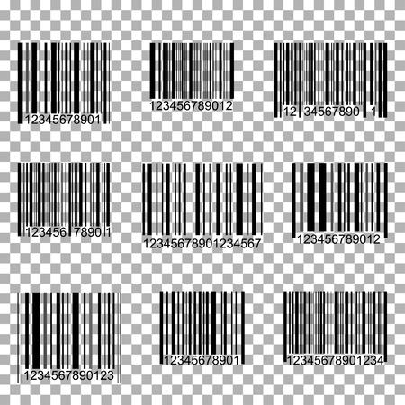Bar Code Set. Scan Code. Barcode template. Vector