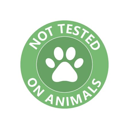Symbol of No tested on animal. Can be used as  sticker, icon. Vector