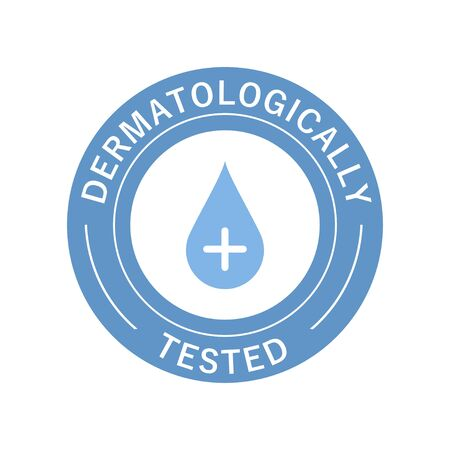Dermatologically tested. Symbol and icon Dermatologically tested for cosmetic product. Vector