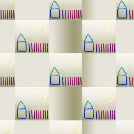 replication: wallpaper, a childs drawing with infinite replication Stock Photo