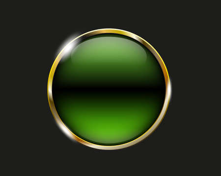 shiny button: lime shiny button with metallic elements, vector design for website Illustration