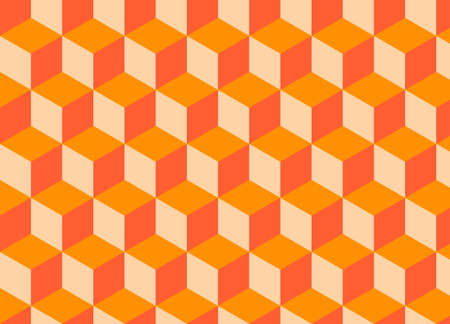 mattress: Abstract geometric background with cubes. vector pattern Illustration