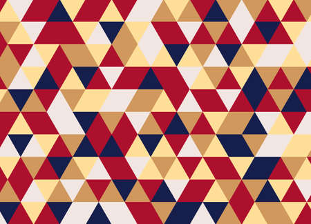 repetitive: Colorful geometric triangle pattern. Abstract vector background.