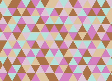 Colorful geometric triangle pattern. Abstract vector background.