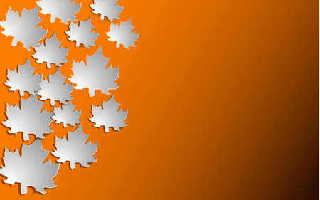 Autumn background with paper cut maple, Vector illustration. Illustration