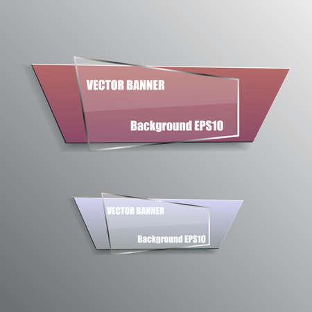 Origami paper info graphic colorful banners set. Annotation ribbon. Design shape. Speech talking cloud. Vector label tag.