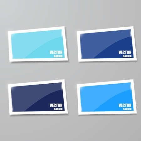 Framework: Glass framework set. Vector illustration. Vector infographic. banners set Illustration