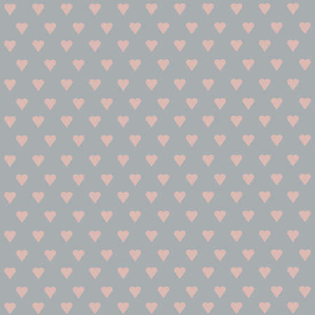 paper heart: Seamless vector pattern with white hearts on pastel background