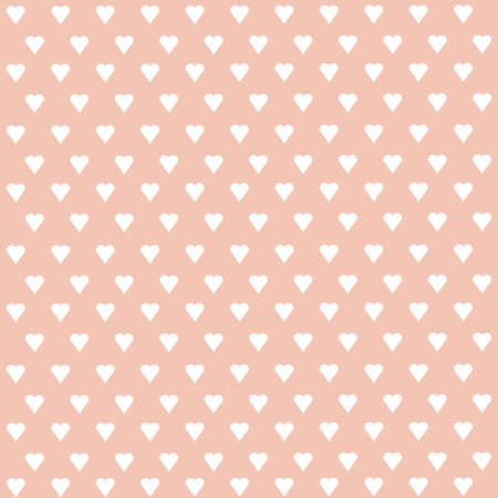 fabric texture: Seamless vector pattern with white hearts on pastel background