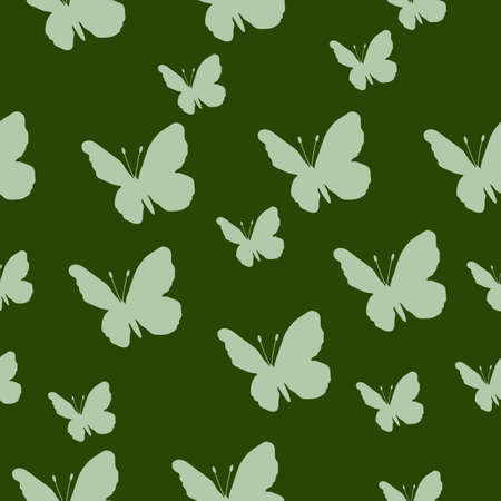 Butterfly pattern. Vector seamless pattern. Repeating background.