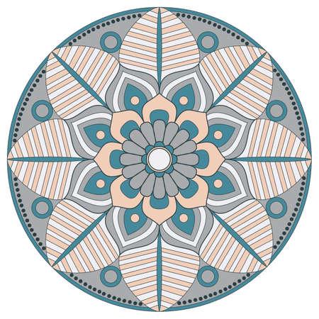 Flower Mandala. Vintage decorative elements. Oriental pattern, vector illustration. Islam, Arabic, Indian, turkish, pakistan, chinese, ottoman motifs