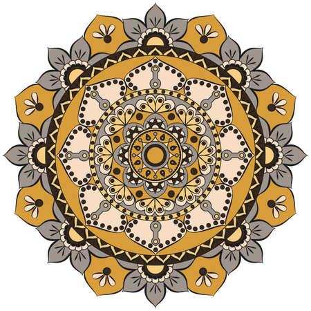 Flower Mandalas. Vintage decorative elements. Oriental pattern, vector illustration. Islam, Arabic, Indian, turkish, pakistan, chinese, ottoman motifs