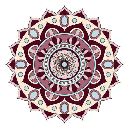 oriental vector: Flower Mandalas. Vintage decorative elements. Oriental pattern, vector illustration. Arabic, Indian, turkish, pakistan, chinese, ottoman motifs