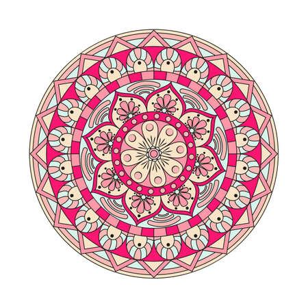 花まんだら。ヴィンテージの装飾的な要素。東洋のパターン、ベクトル図です。イスラム教、アラビア語、インド、トルコ、パキスタン、中国、オ