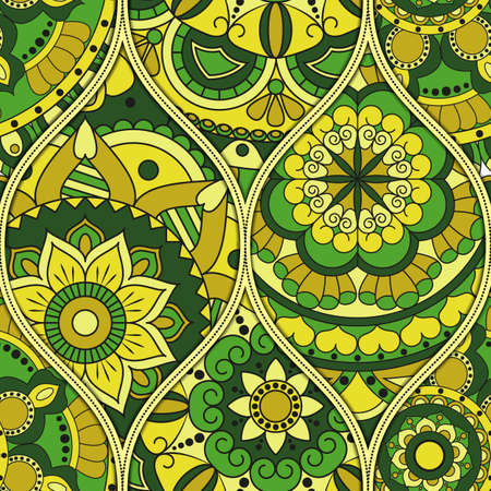 Modèle avec des éléments décoratifs vintage mandalas. Fond dessiné à la main pour l'islam, l'arabe, l'indien, les motifs ottomans.