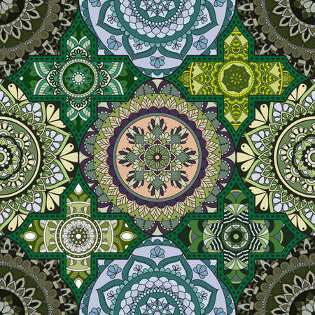 Patchwork pattern.