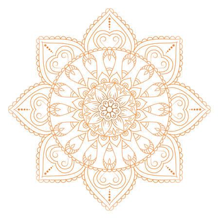 Flower Mandalas. Vintage decoratieve elementen. Oosters patroon, vector illustratie. Islam, Arabisch, Indiaas, Turks, pakistan, chinees, Ottomaanse motieven Stock Illustratie