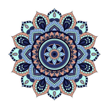 Bloem Mandala's. Stock Illustratie