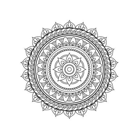 Bloem Mandala's. Stock Illustratie